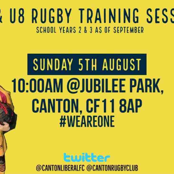 Rugby Training for U7 & U8