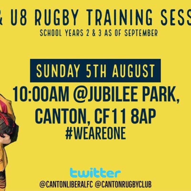 Rugby Training for U7 & U8