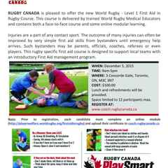 World Rugby First Aid In Rugby Courses