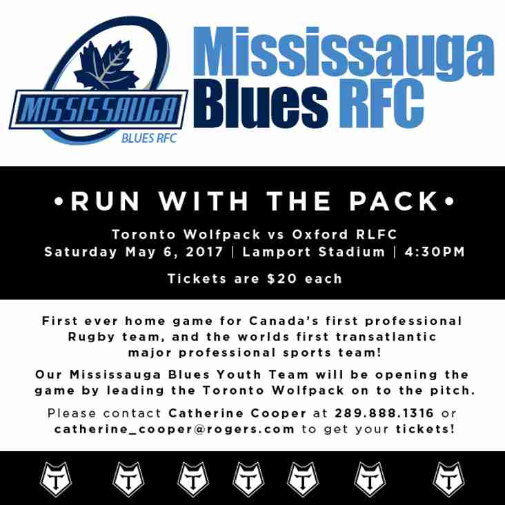 Join Us at Toronto Wolfpack Game, May 6, 2017