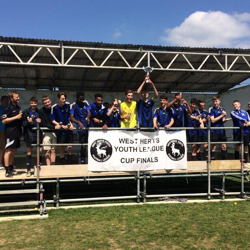 Everett Rovers u16 win cup final