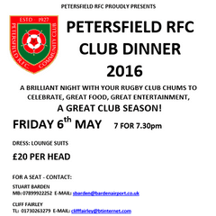 PRFC Proudly Presents - Petersfield RFC Club Dinner 2016
