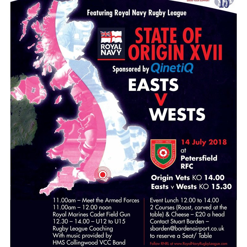 """Armed Forces Day & the RNRL """"State of Origin"""" Match"""