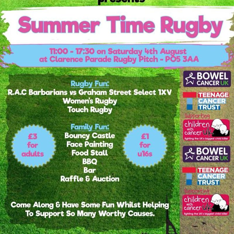 Rugby Against Cancer - Summer Time Rugby
