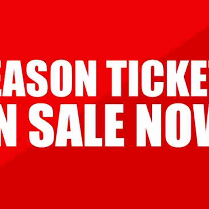 Season ticket sales - This Thursday & Friday