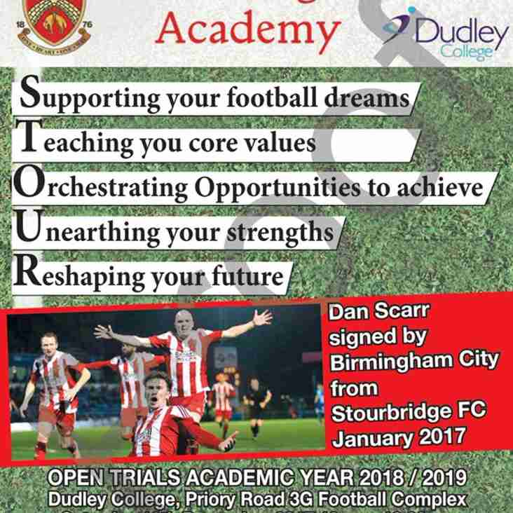 Opening Academy trials set for 16th December