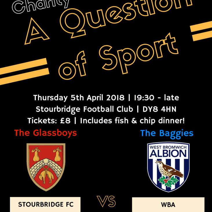A 'Question of Sport' Quiz Night - in aid of Mary Stevens Hospice