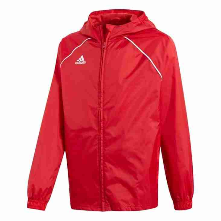 Club Shop: Large size Adidas Rain Jackets available