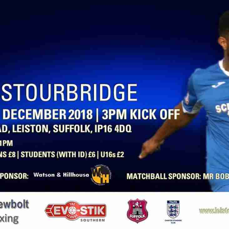 Leiston v Stourbridge - Match Preview
