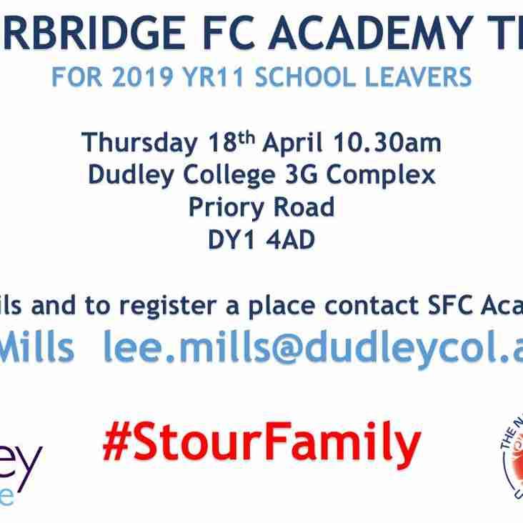 Stourbridge FC Academy Trials - 18th April