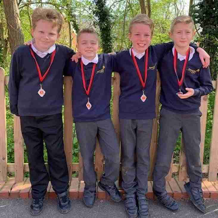 Junior boys enjoy District success