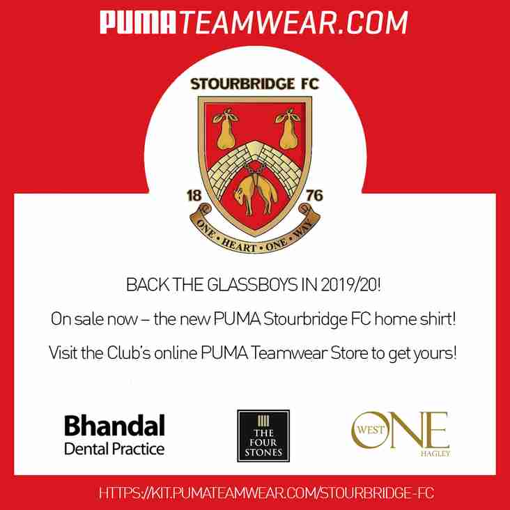 Order the new Puma Teamwear home kit online TODAY!