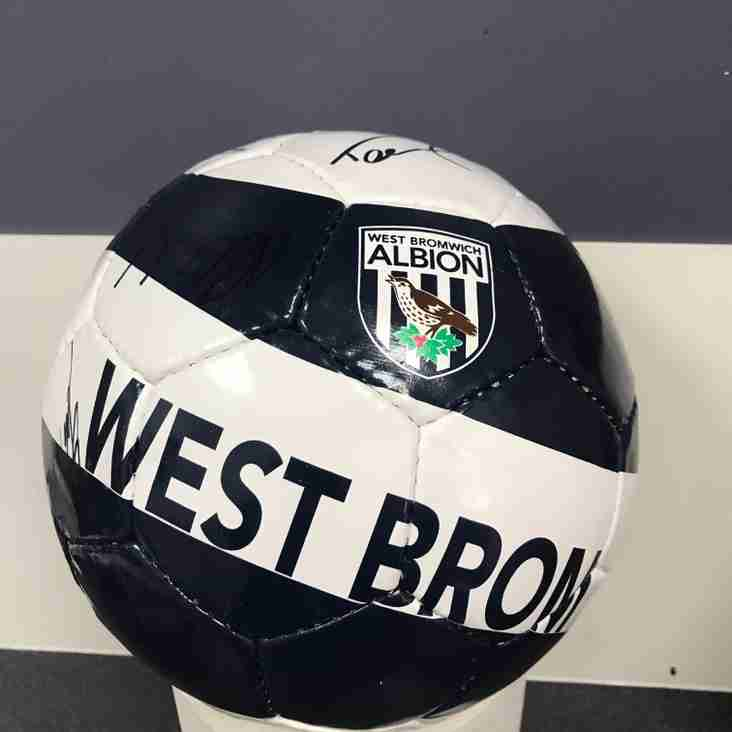 WBA and Wolves signed footballs up for auction!