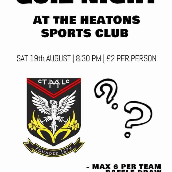Heaton Mersey Cricket presents: Quiz Night