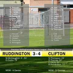 Rudd lose local derby!