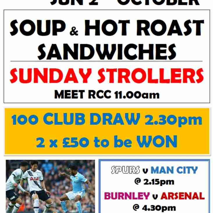 SOUPER SUNDAY, 100 CLUB and PREMIER LEAGUE FOOTBALL