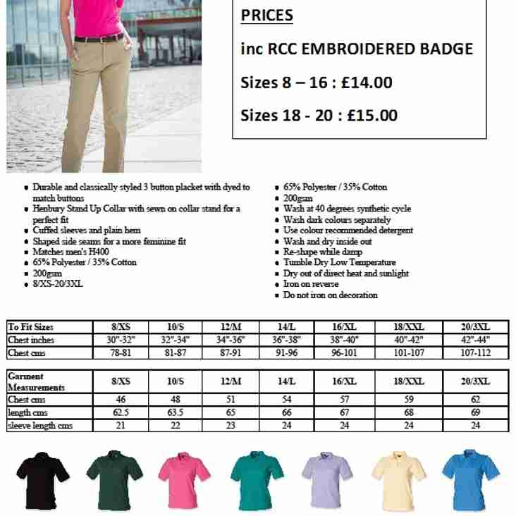 RCC Polo Shirts - Leisurewear