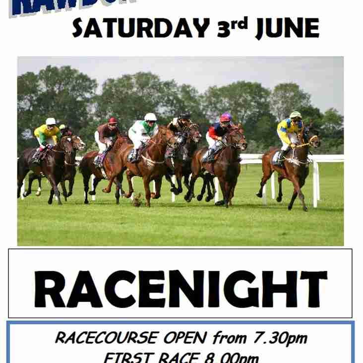 RACENIGHT - Sat 3rd JUNE - 7 horses and 4 sponsors remain