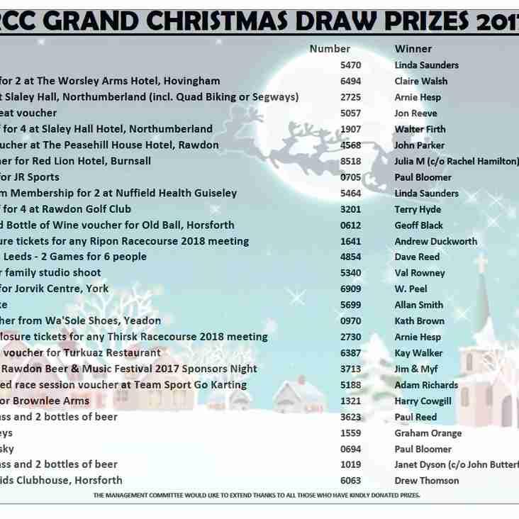 GRAND XMAS DRAW 2017 WINNERS