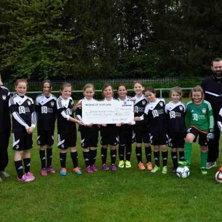 Binn Group grants Jeanfield Swifts Girls' wishes