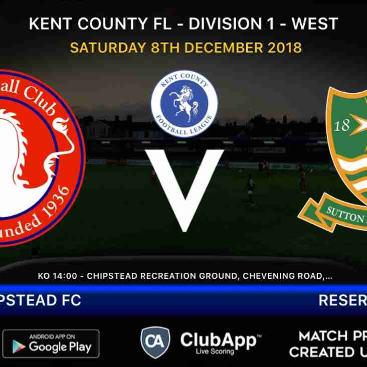 Reserves travel to Chipstead