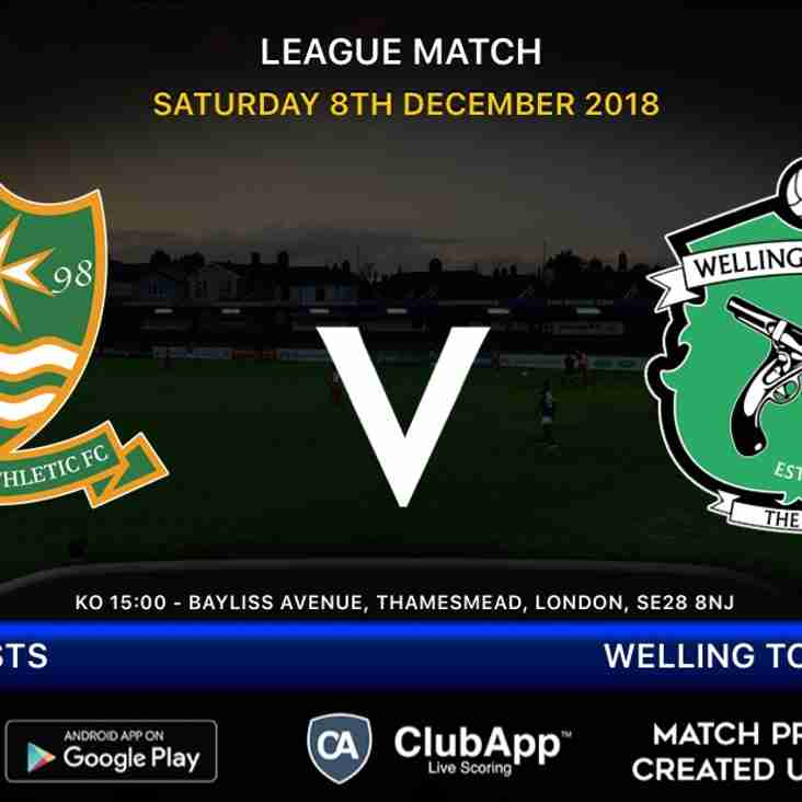 Firsts travel to Welling Town