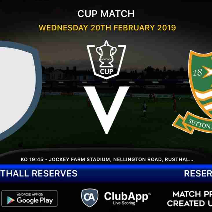 Reserves face Rusthall reserves