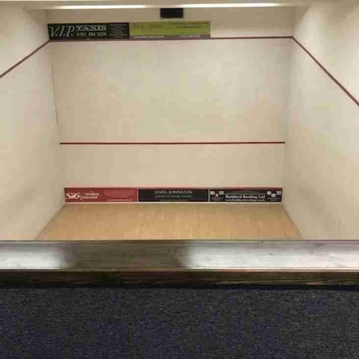£50,000 Squash Refurb Completed
