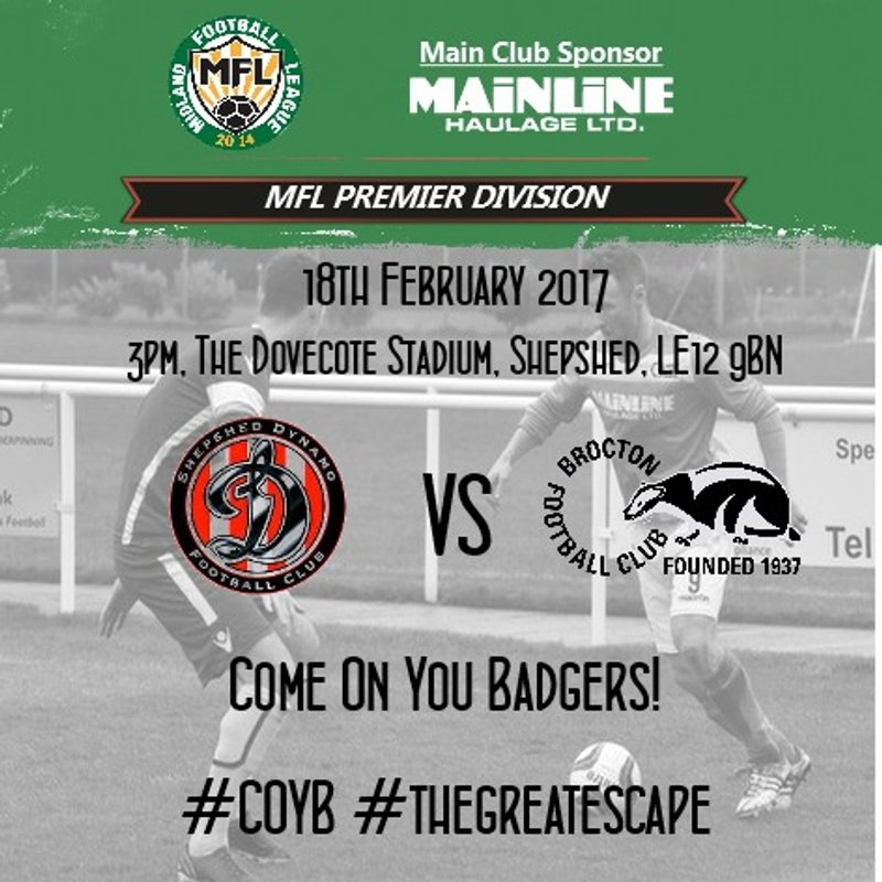 Next Match: The Badgers head to Shepshed in search of three vital points