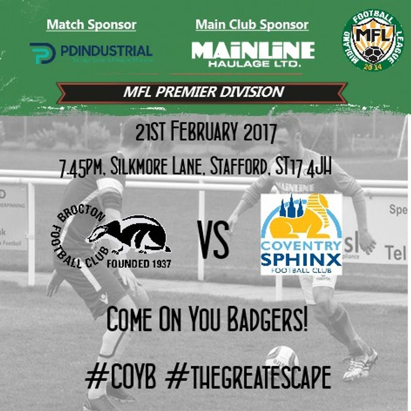 TONIGHT : Badgers face Sphinx at home