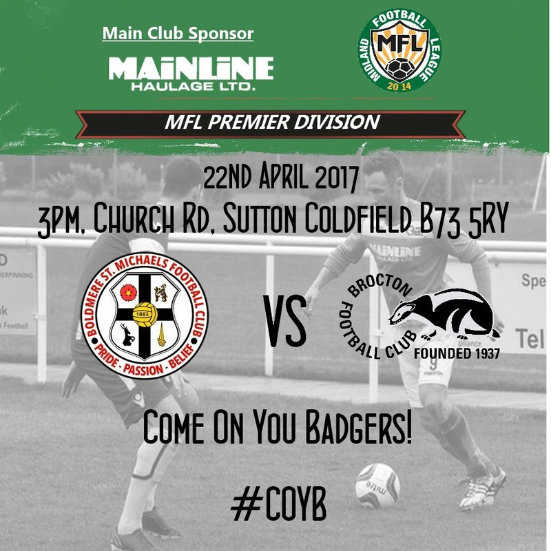 Match Preview: Badgers last away trip in the Premier Divsion today