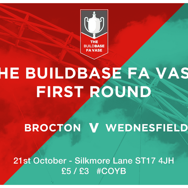 MATCH PREVIEW: Wednesfield visit for the FA Vase First Round