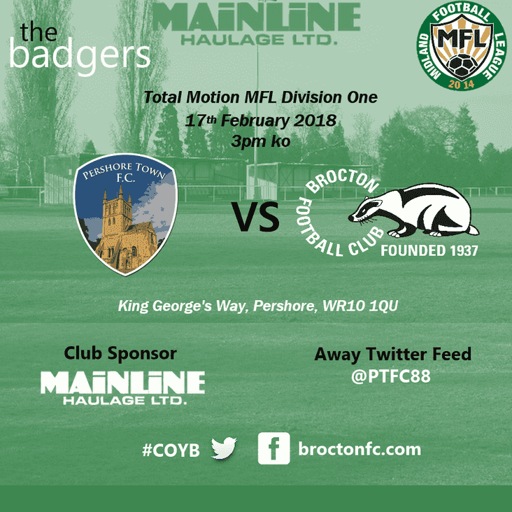 MATCH PREVIEW : Long away day as Badgers head for Pershore