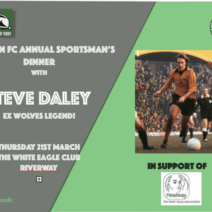 Sportsman's night is almost upon us!