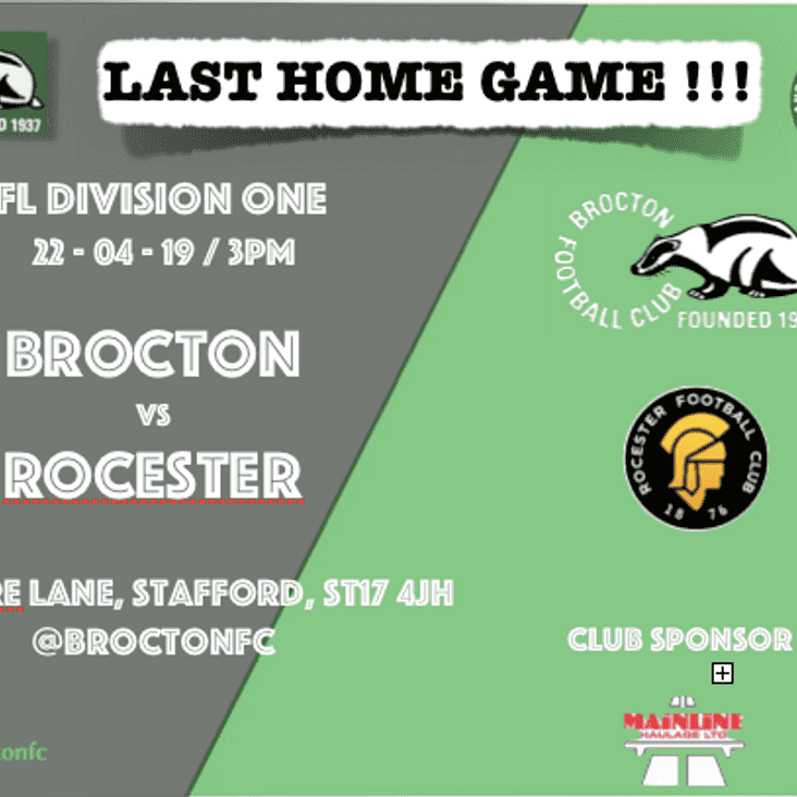 MATCH PREVIEW: Last home game sees the Romans take the road to Brocton