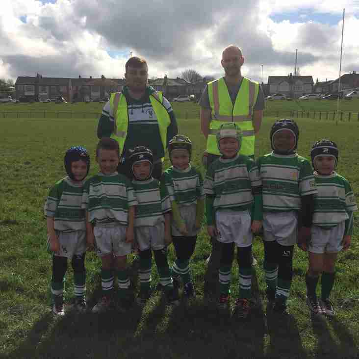 Dewsbury Celtic U 7 first ever game v Shaw Cross
