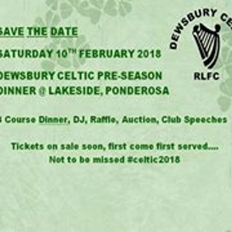 Dewsbury Celtic Ball 2018 date announced