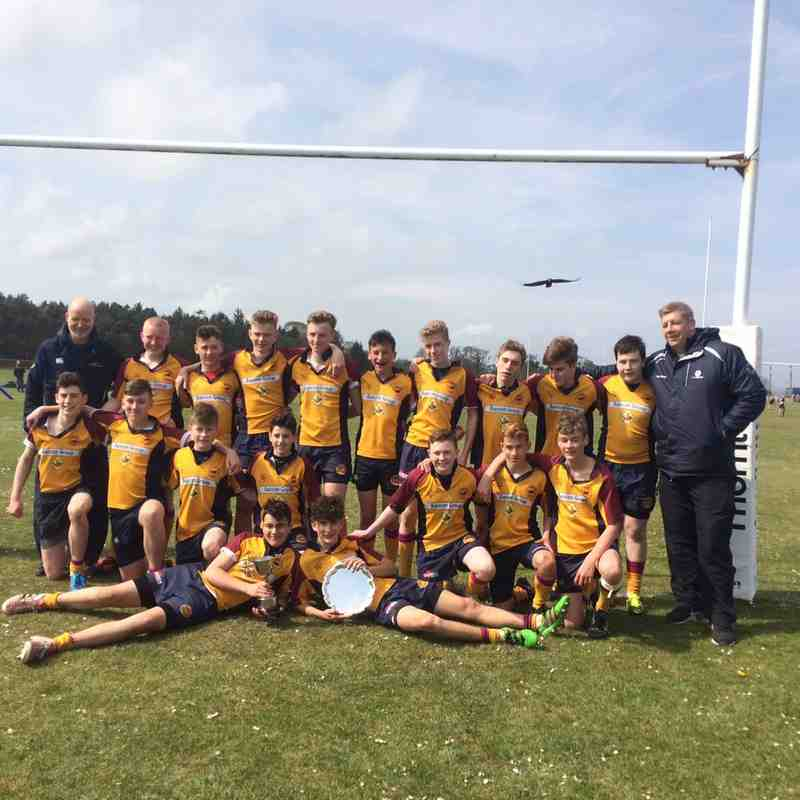 Deeside Rugby U15 - Caley Cup Champions - April 2017