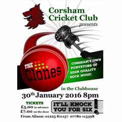 Live music in the Clubhouse on 30th January