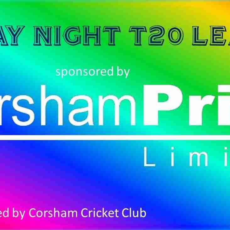 Six teams confirm entry to the 2018 'Corsham Print' Friday Night T20 League
