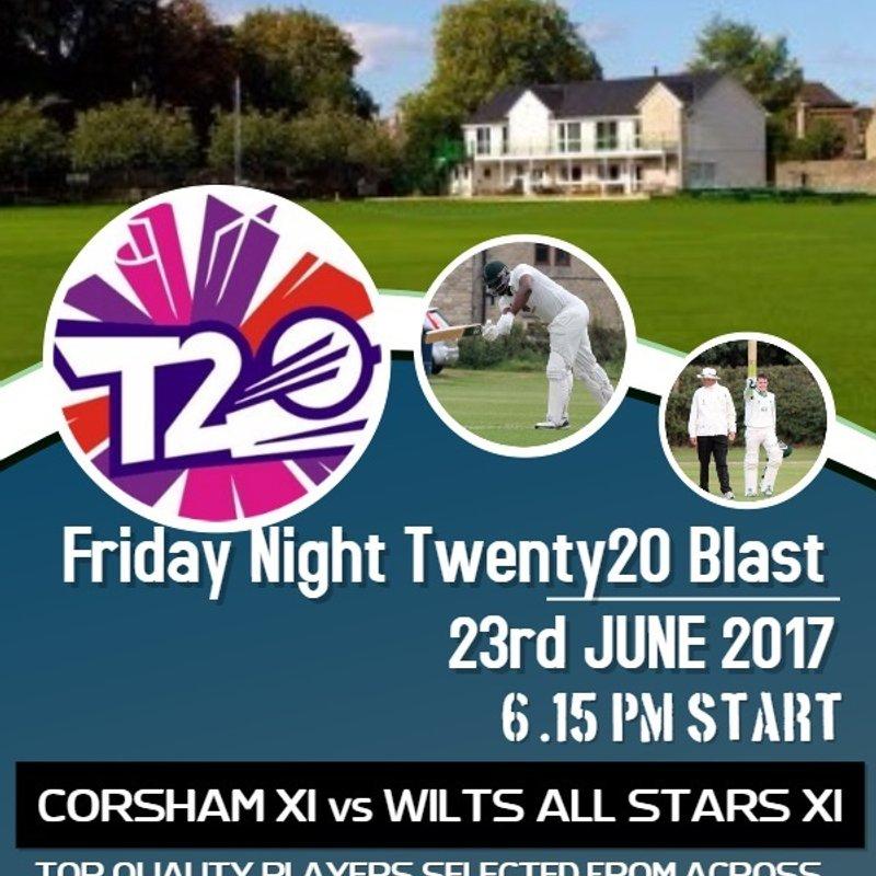 T20 CHALLENGE MATCH: CORSHAM CC XI v WILTSHIRE ALL STARS XI