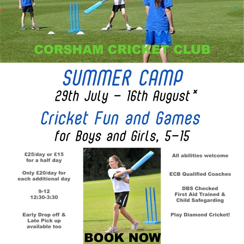 Reminder: Summer Holiday Cricket Camp