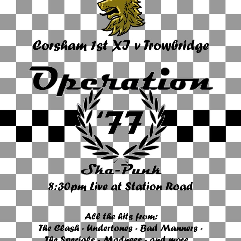 Live Music at Station Road featuring OPERATION '77 on Saturday 29th June from 8.30pm