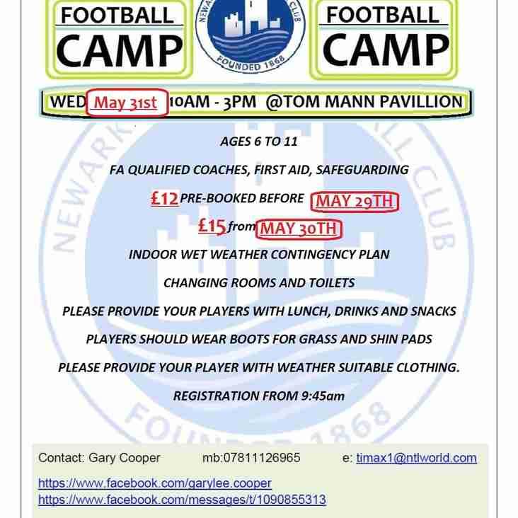 NTFC Football camp 31st May