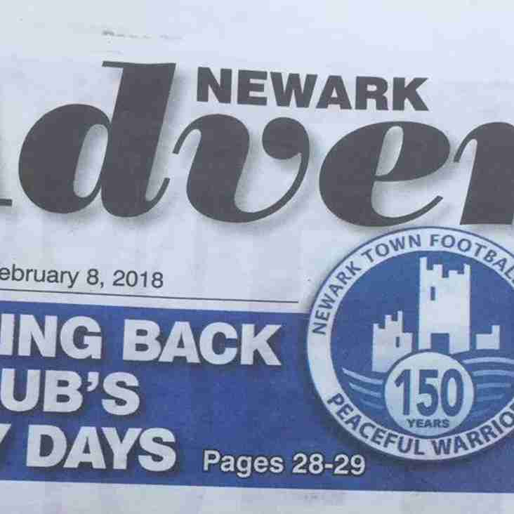 Newark Advertiser and a 150 years of NTFC History