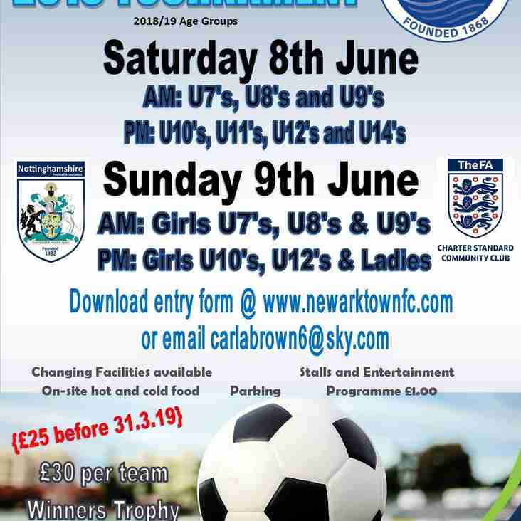 Newark Town FC 2019 Tournament...