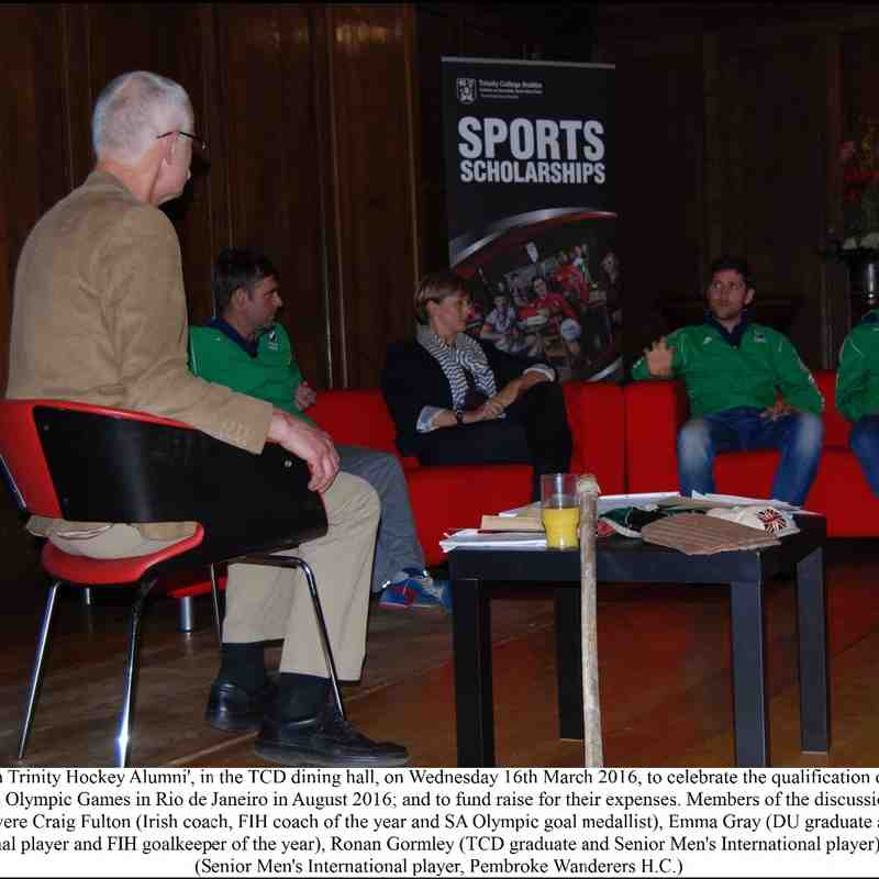 An Evening with Trinity Hockey Alumni – An Olympic Celebration