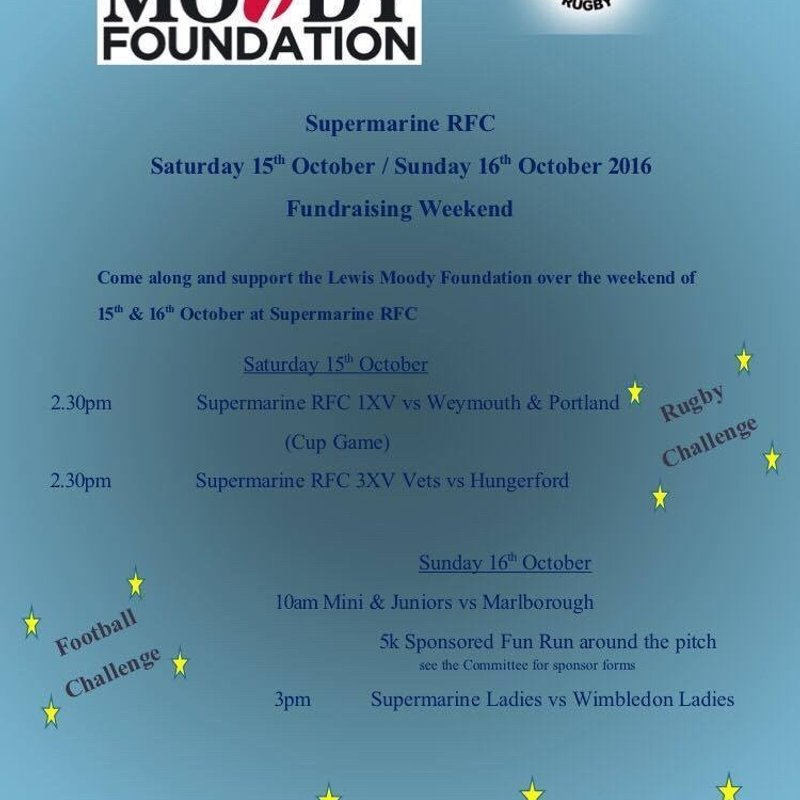 Lewis Moody Charity Weekend