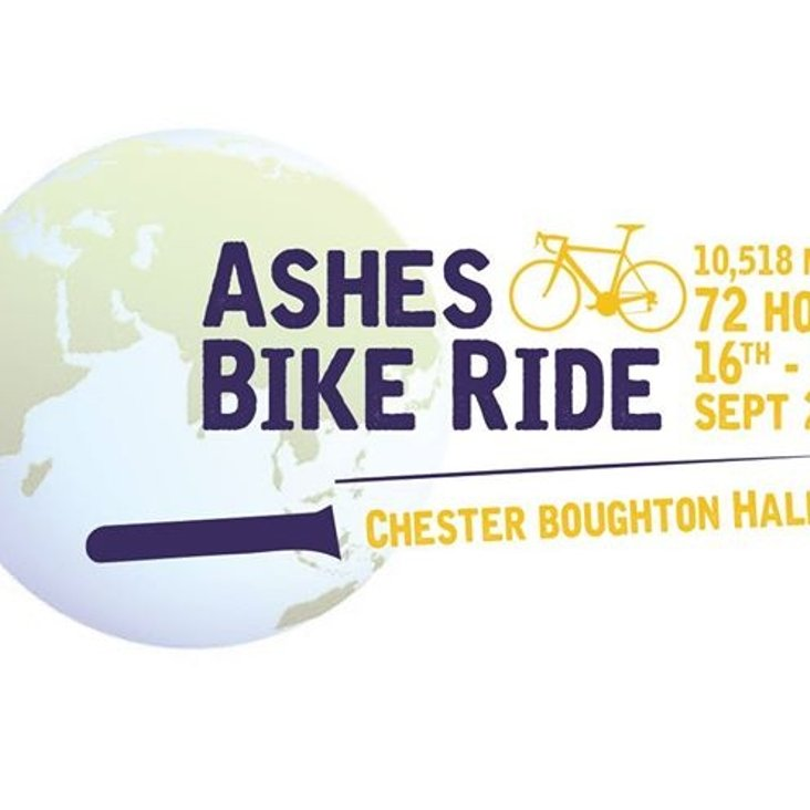 More than £8,500 raised. A message from Ian Thistlewood on behalf of the Ashes Bike Ride organising committee. <