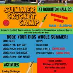 Summer Cricket Camp time!